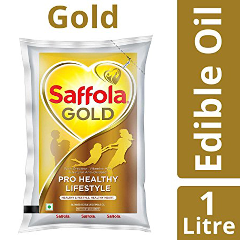 SAFFOLA GOLD OIL 1LT POUCH