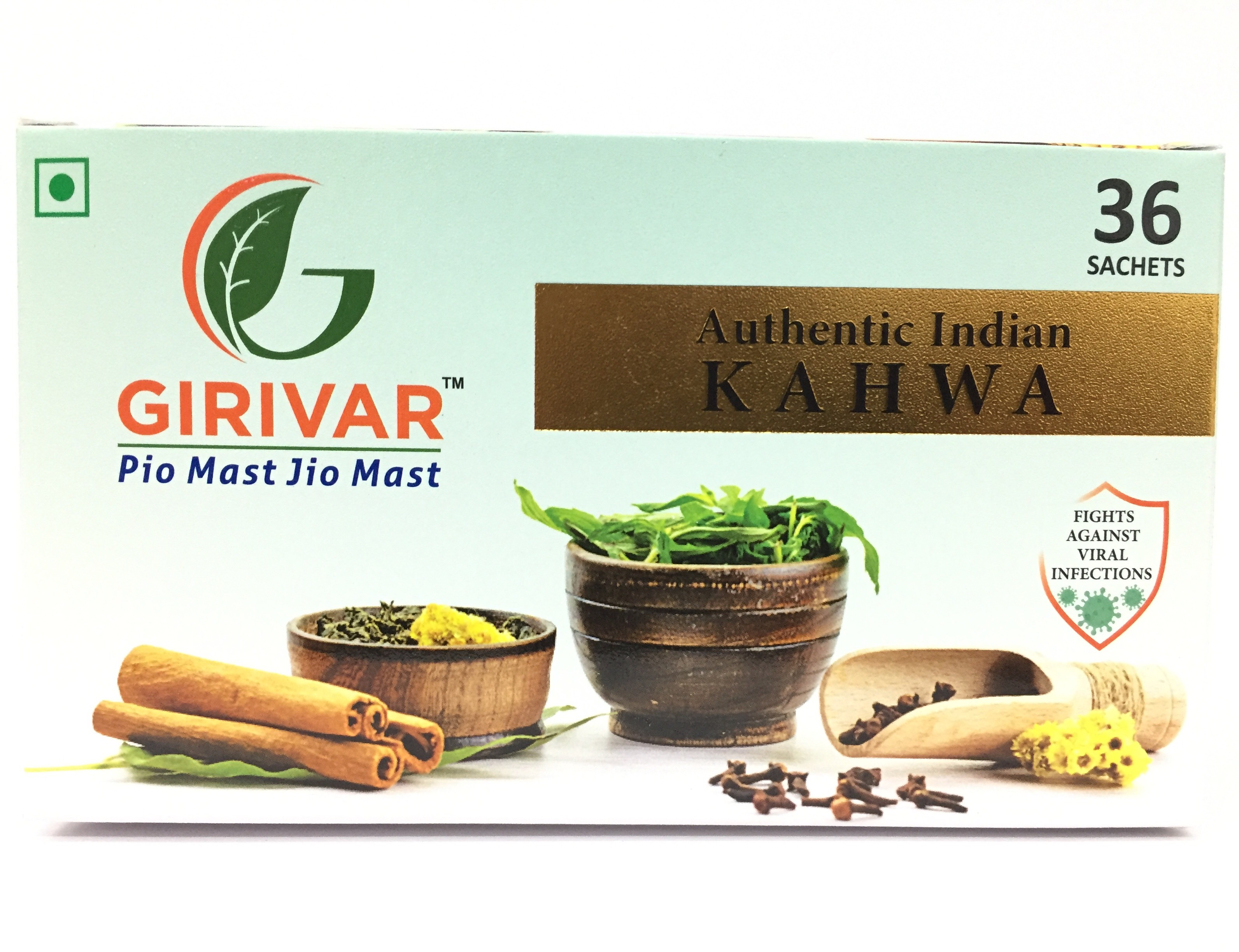 GIRIVAR INDIAN KAHWA TEA 36 BAGS