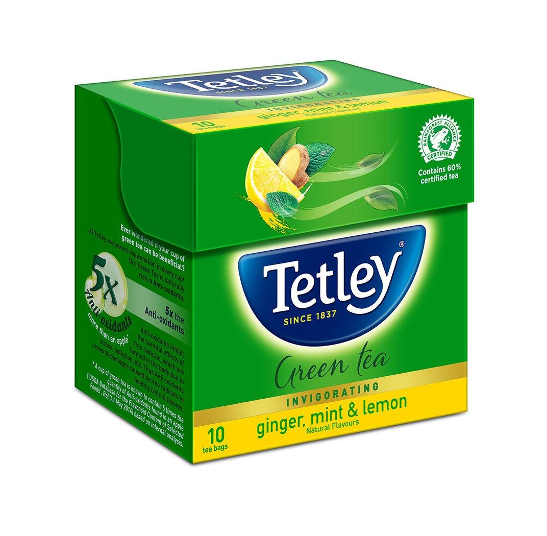 TATA TETLEY GINGER MINT LEMON TEA 10 TEA BAG
