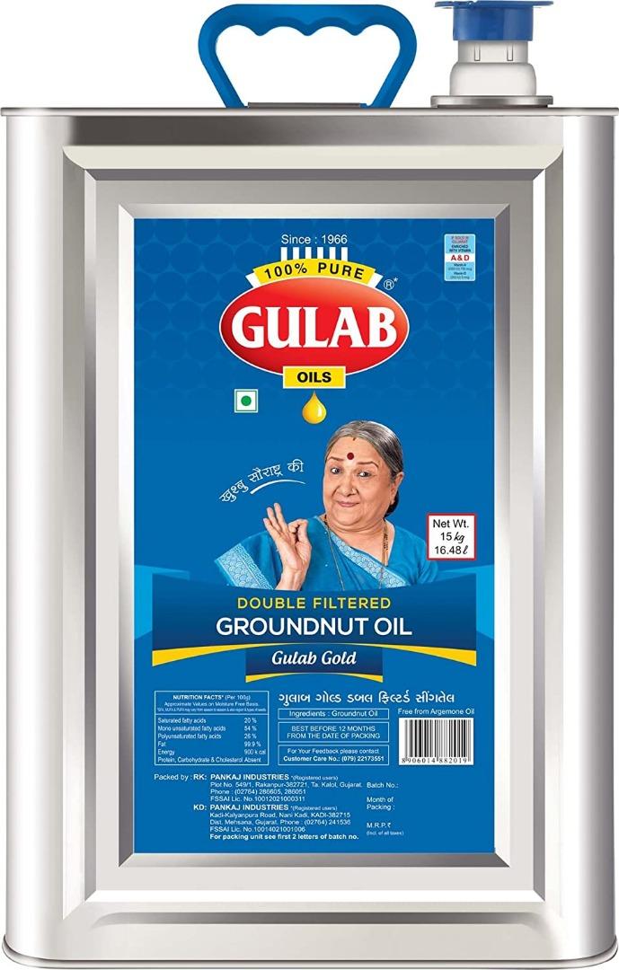 GULAB GROUNDNUT 15 KG TIN