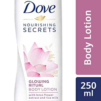DOVE GLOWING BODY LOTION 250 ML