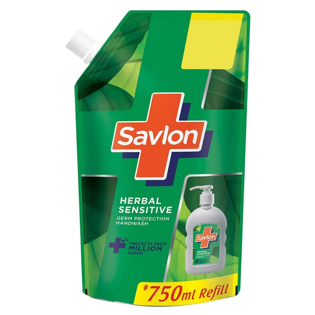 SAVLON HERBAL LIQUID HANDWASH 750 ML