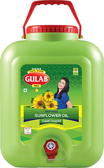 GULAB SUNFLOWER OIL 15 LTR JAR
