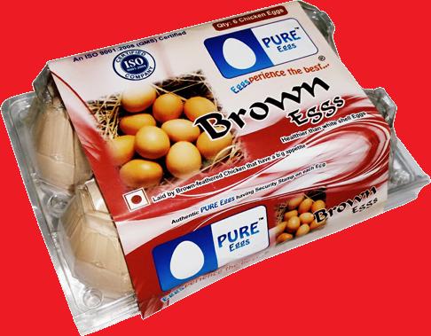 PURE EGGS BROWN 6PCS