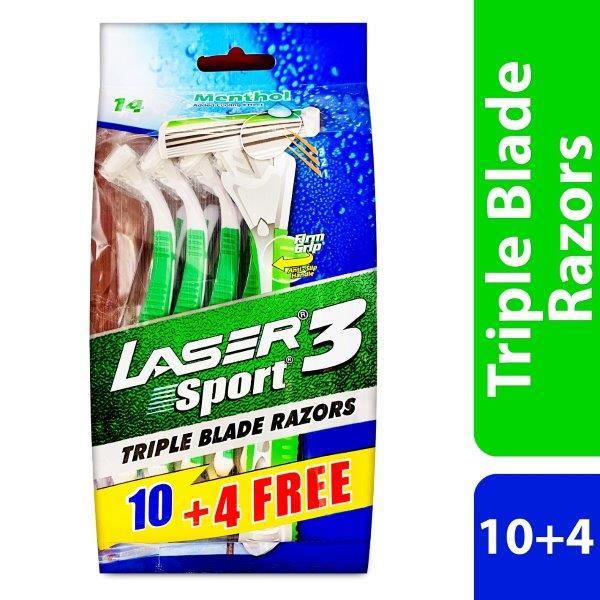 LASER SPORT3 10+4 TRIPLE PACK MENTHOL