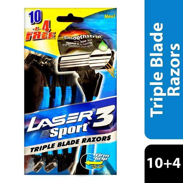 LASER SPORT3 10+4 TRIPLE PACK REGULAR