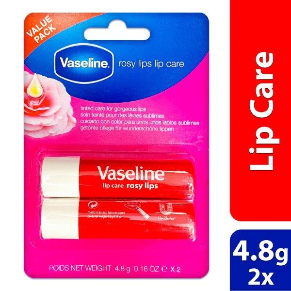 VASELINE LIP ROSY TWIN PACK ME 24X2X4.8G