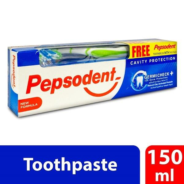 PEPSODENT GERMICHECK 150G + Tooth Brush