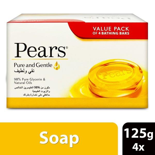 PEARS SOAP 125G  PURE & GENTLE - AMBER (4X125G)