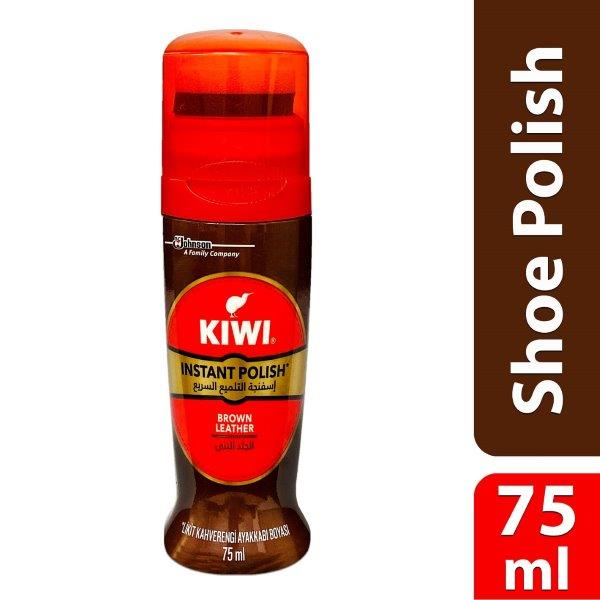 KIWI Liq.Shoe Polish Brown 75ml/6 MENAPT