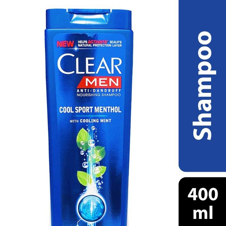 Clear Shampoo Cool Sport Menthol (Men), 400ml