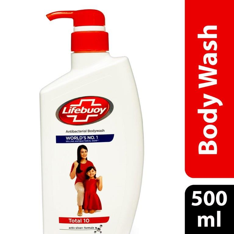 Lifebuoy Body Wash Total 10, 500ml