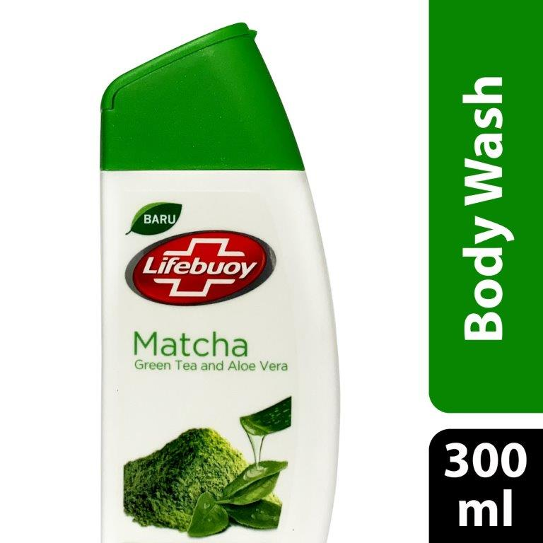 Lifebuoy Body Wash Matcha Green Tea & Aloe Vera, 300ml