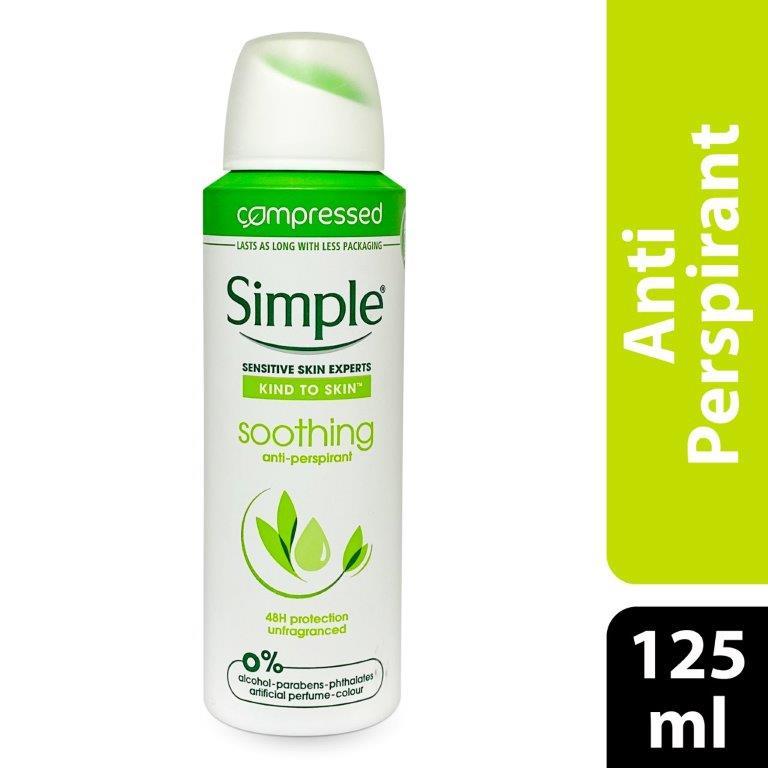 Simple Deo Aero Kind To Skin Soothing-Women, 125ml