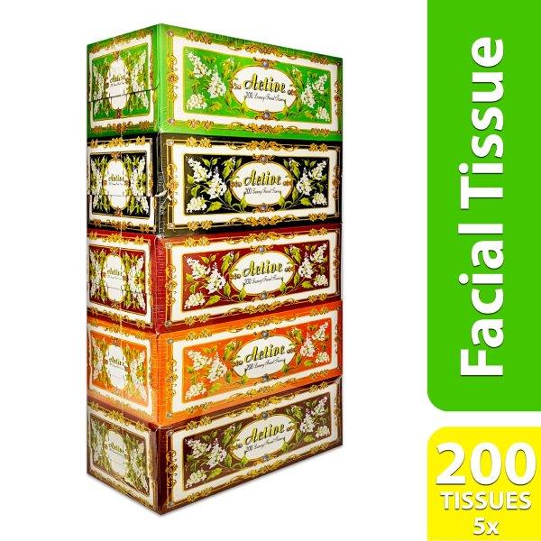 ACTIVE PLUS FACIAL TISSUE 200s X 5