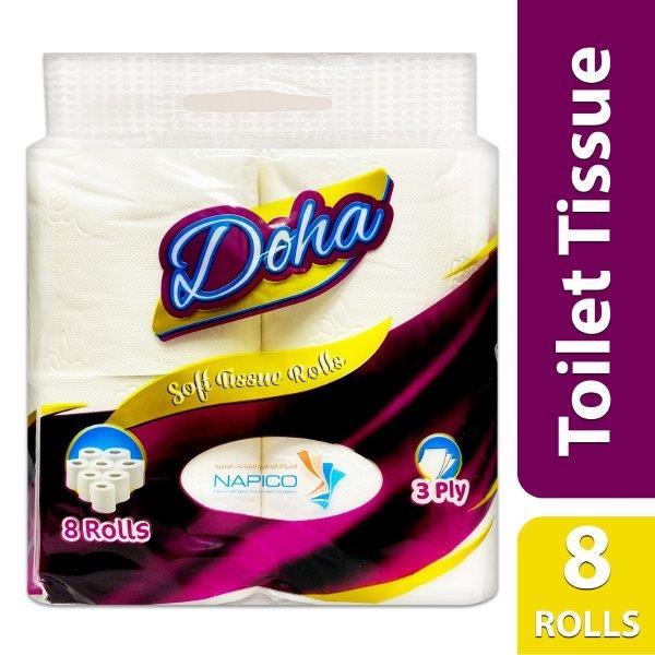 DOHA TOILET  ROLLS 3 PLY:0735850974293