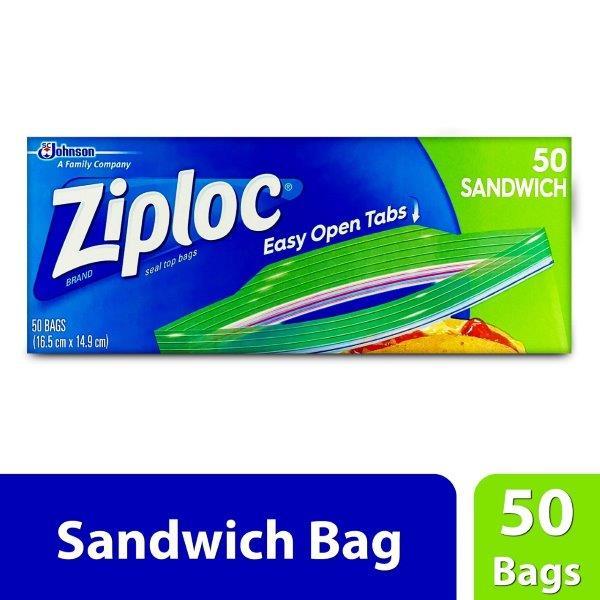 ZIPLOC SANDWICH BAGS 50