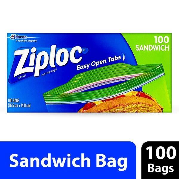 ZIPLOC SANDWICH BAGS 100