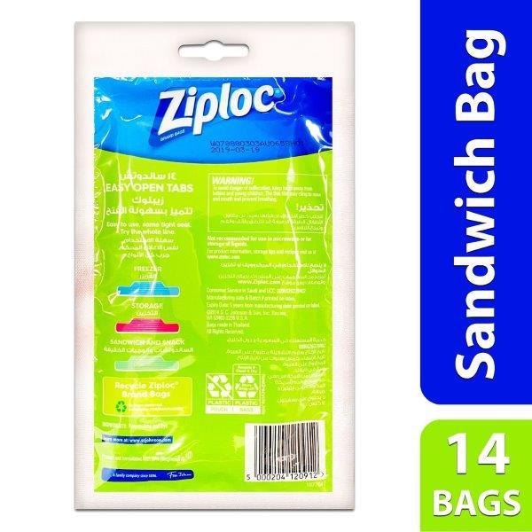 ZIPLOC SANDWICH BAGS 14