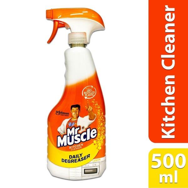 MR.MUSCLE 500ML KTCHN CLEANER LMN DAILY DEGREASER