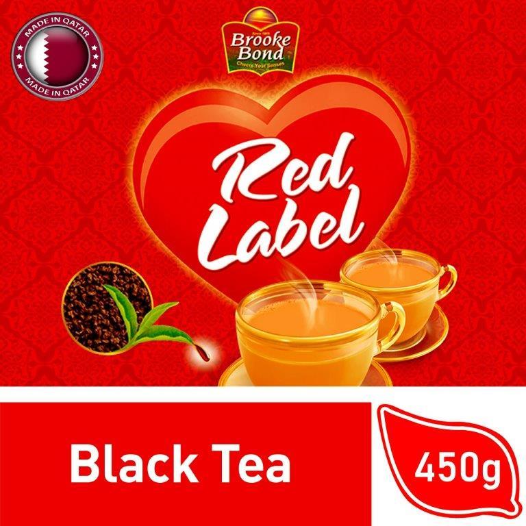 Brooke Bond Red Label Black Tea Packet, 450G  جم 450بروك بوند شاي العلامة الحمراء
