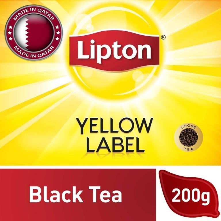 Lipton Yellow Label Black Tea Packet, 200G