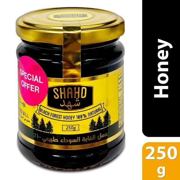 SHAHD BLACK FOREST HONEY GLASS JAR 250G BUY @ SPL