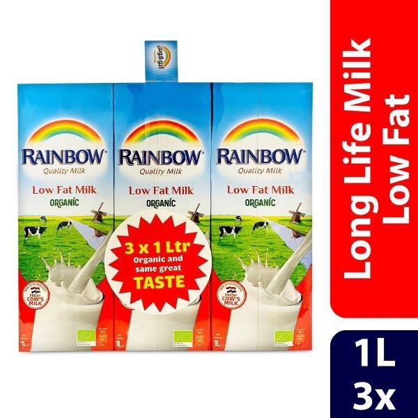 RAINBOW RTD ORGANIC LOW FAT 4X(3X1L) CONV. PACK