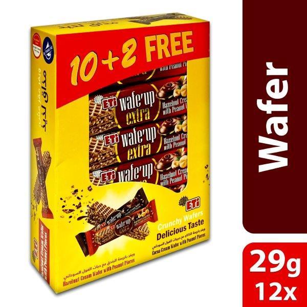 WAFE UP EXTRA HAZELNUT CREAM 29G, BUY 10+2 FREE