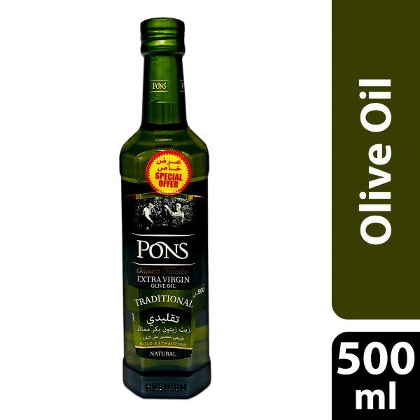 PONS TRD EXTVIRGIN OLIVE OIL 500ML@SP