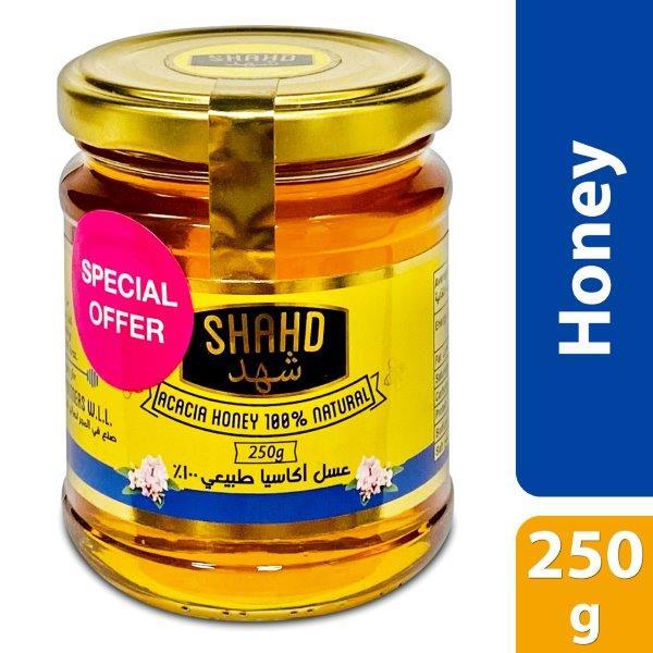 SHAHD ACACIA HONEY IN ROUND GLASS JAR 250G, BUY @