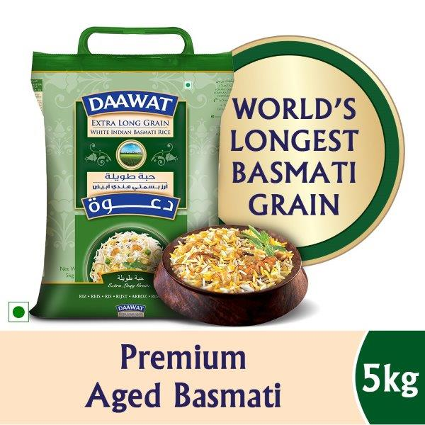 DAAWAT EXTRA LONG GRAIN 5KG