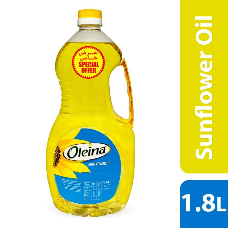 OLEINA SUNFLOWER OIL 1.8LTR, BUY @ SPECIAL PRICE