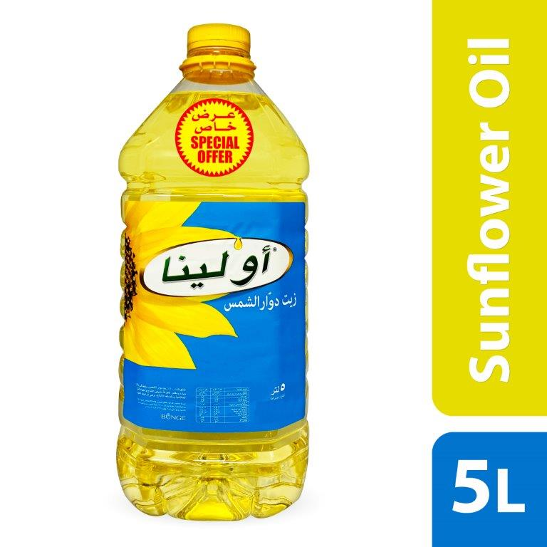 OLEINA SUNFLOWER OIL 5 LTR. SPECIAL OFFER