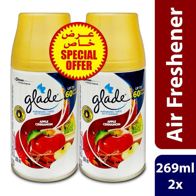 GLADE AUTO REFILL APPLE CINNAMON 269ML 2@QRS 30