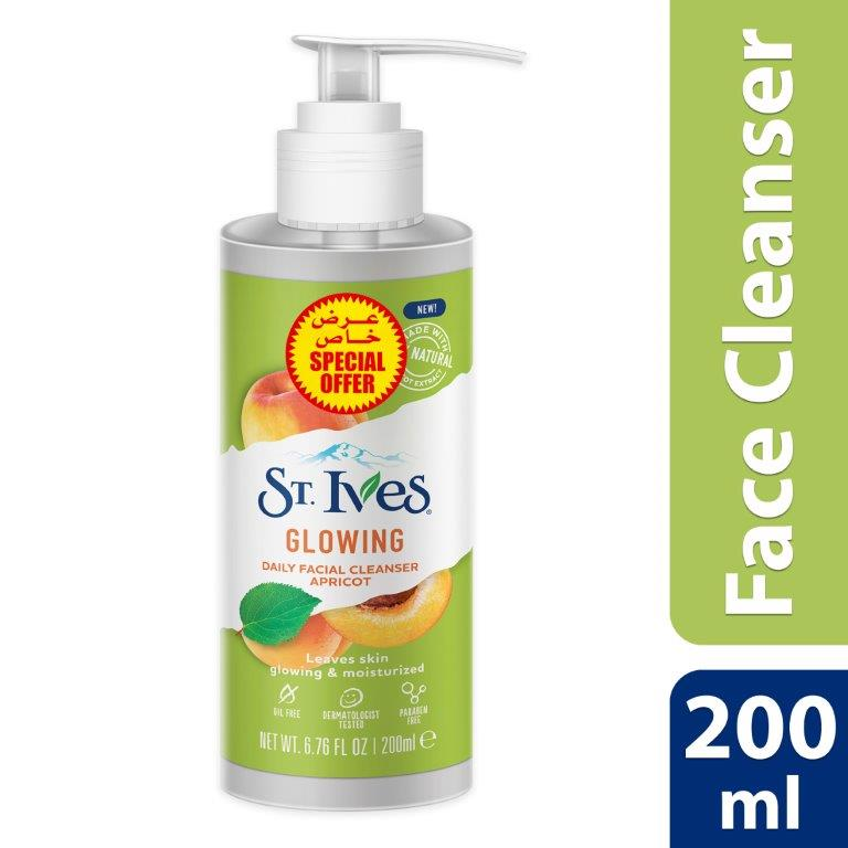 ST.IVES  FACE CLEANSER 200ML GLOWING, BUY@SPECIAL