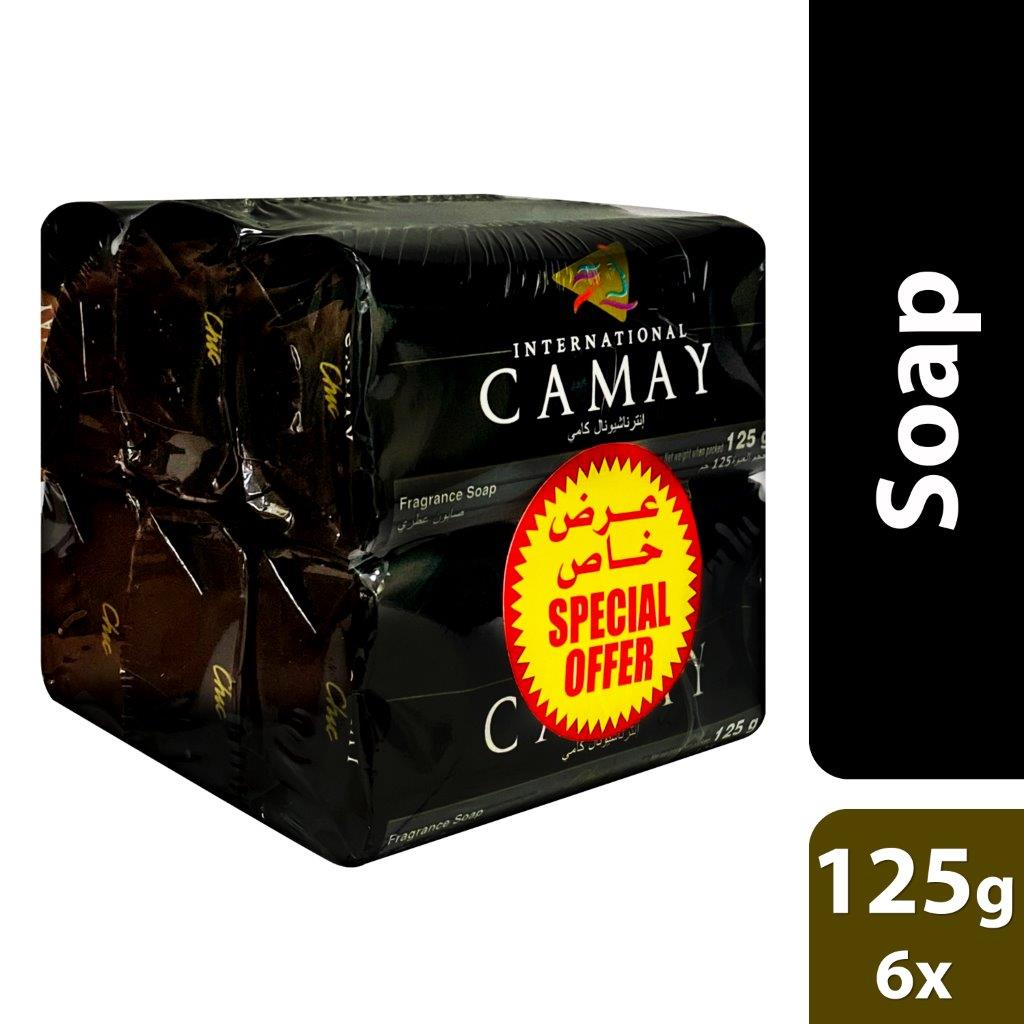 CAMAY SOAP 125G CHIC BUY 6 @ SPECIAL PRICE