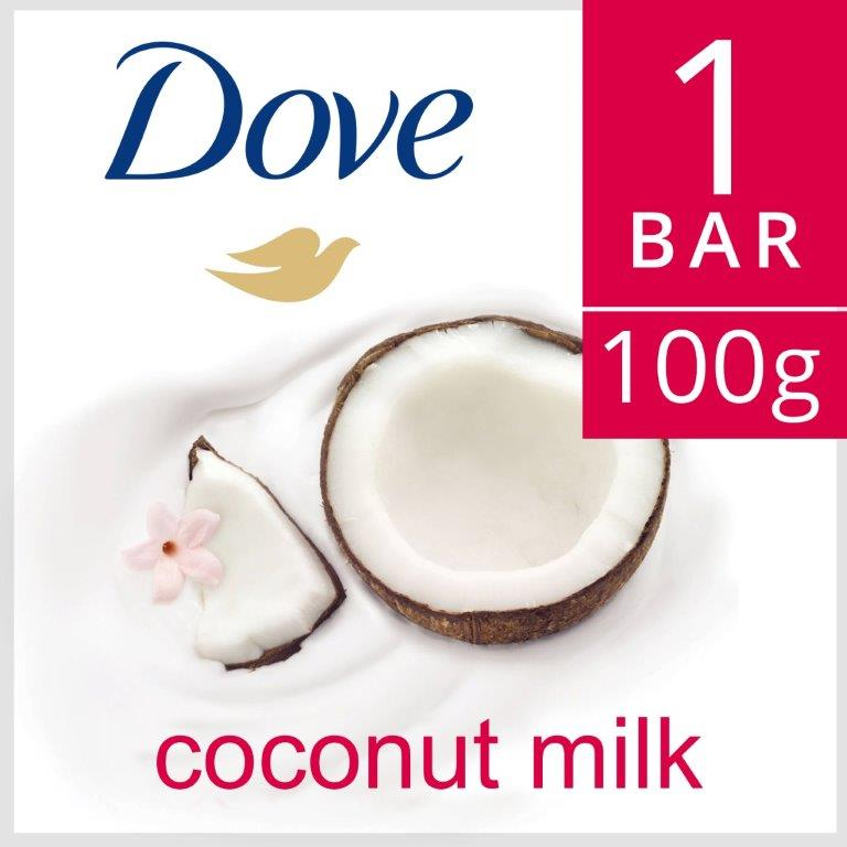 Dove Beauty Bar Purely Pampering Coconut Milk, 100G