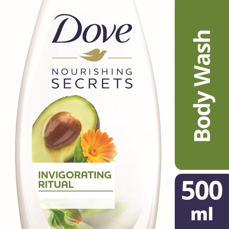 Dove Invigorating Body Wash Avocado, 500ml