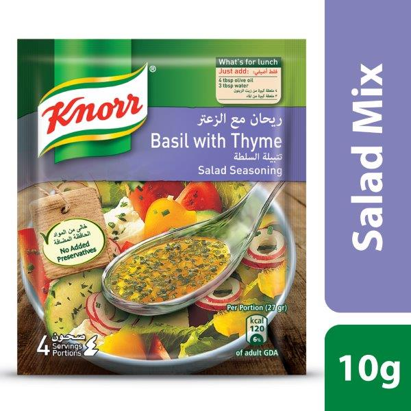 Knorr Salad Mixes Basil & Thyme, 10g