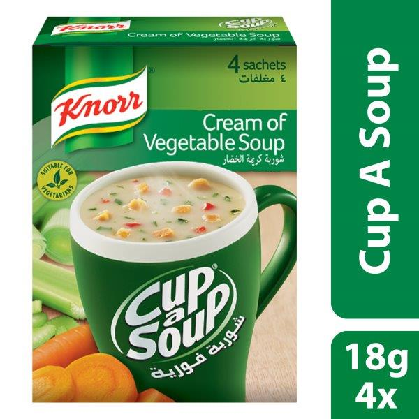 Knorr Cup-A-Soup Cream of Vegetable, 18g
