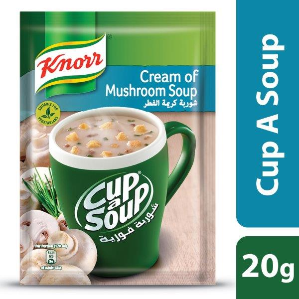 Knorr Cup-A-Soup Cream of Mushroom, 20g