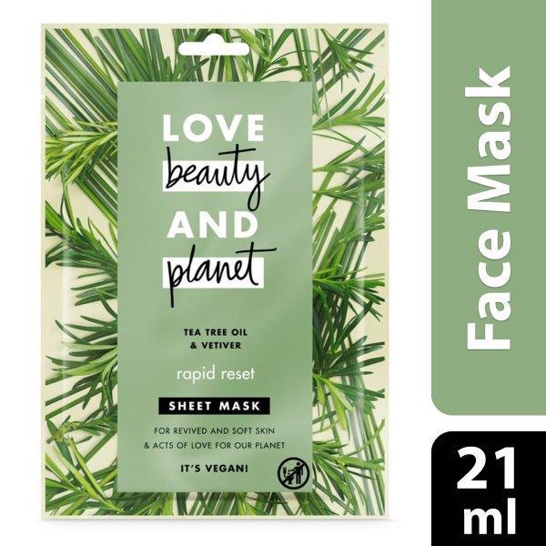 Love Beauty & Planet Sheet Mask Hydration Infusion, 21ml