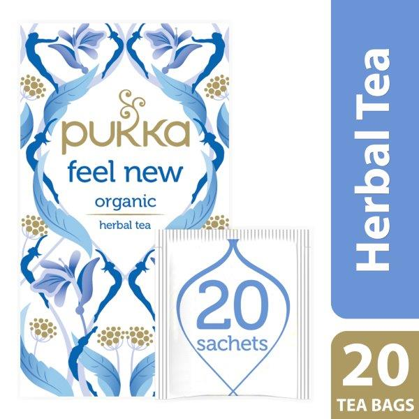 Pukka Feel New, Organic Herbal Tea with Aniseed, Fennel & Cardamom, 20 Tea Bags
