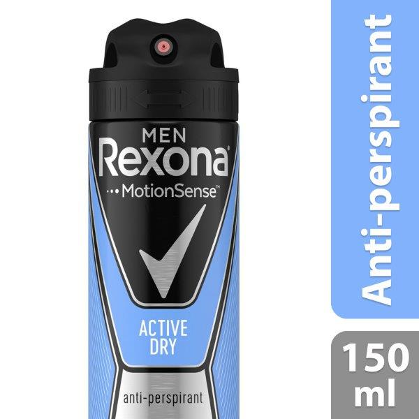 Rexona Deo Aero Active Dry Men, 150ml