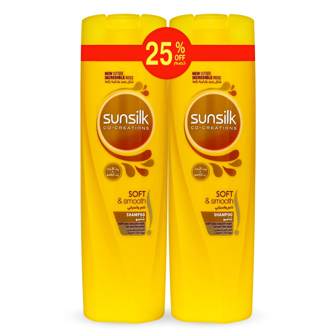 SUNSILK SHAMPOO 350ML SOFT & SMOOTH TP@25% OFF