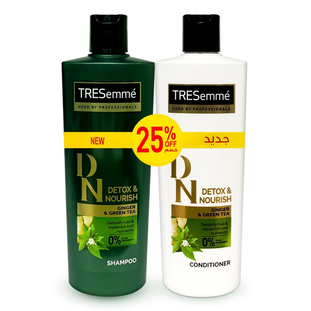 TRESEMME SHAM 330ML+COND 330ML DETOX&NRSH @25%OFF