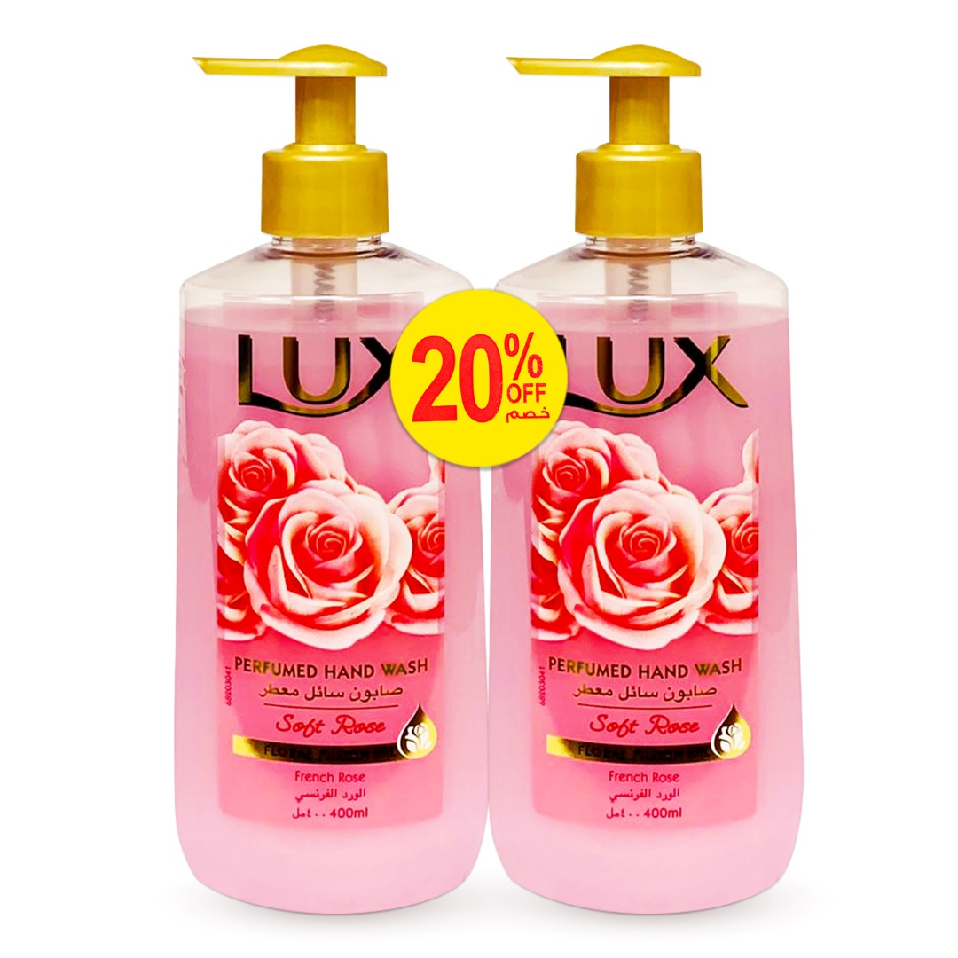 LUX HAND WASH 400ML SOFT TENDER TP@20% OFF
