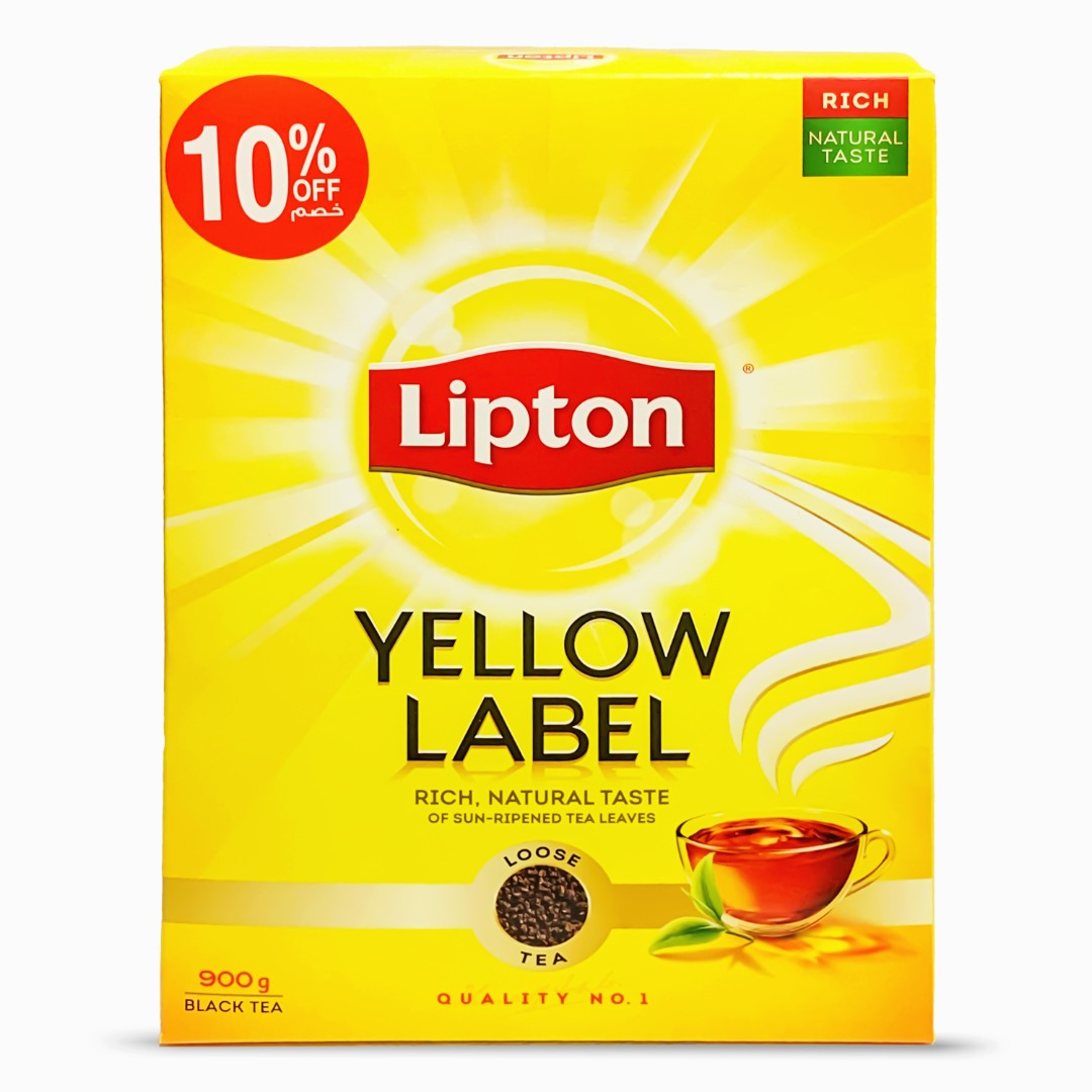 LIPTON YELLOW LABEL TEA PACKET 900G @10% OFF