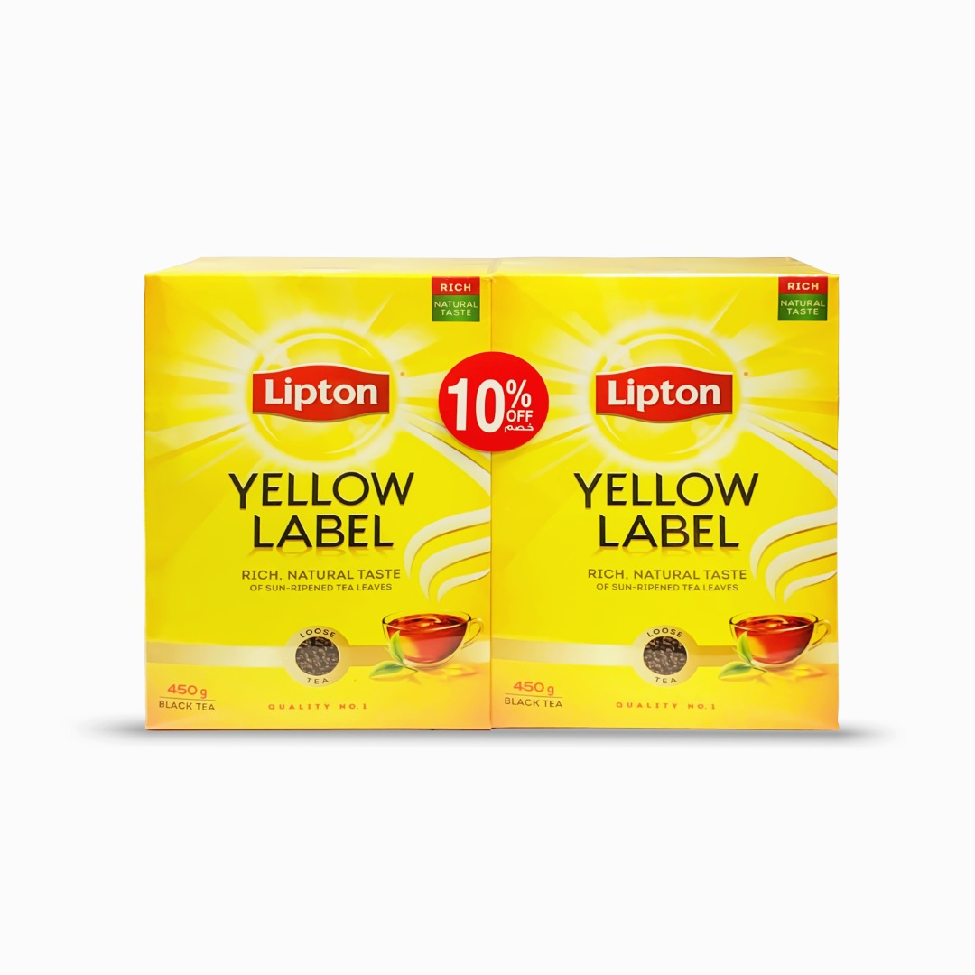 LIPTON YELLOW LABEL TEA PACKET 450G TP@10% OFF